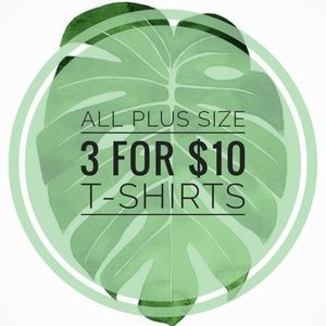 Tops - 3 for $10 • All Plus Size Ts & Tanks